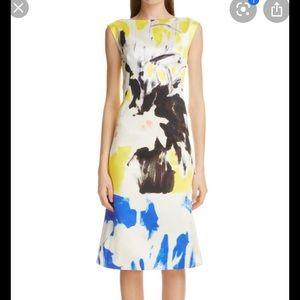 NEW | Dries Van Noten Silk Cotton Printed Dress